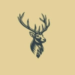 A stag's head logo signifying Glenquicken Farm Game Meats